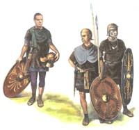 Легионер и пехотинцы вспомогательных